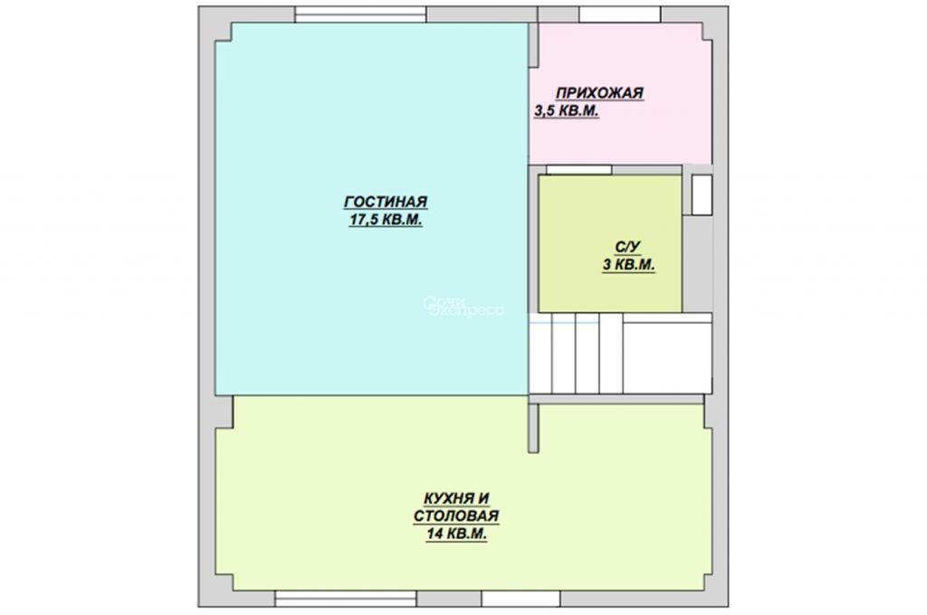 Коттедж 128м² на участке 2 сот